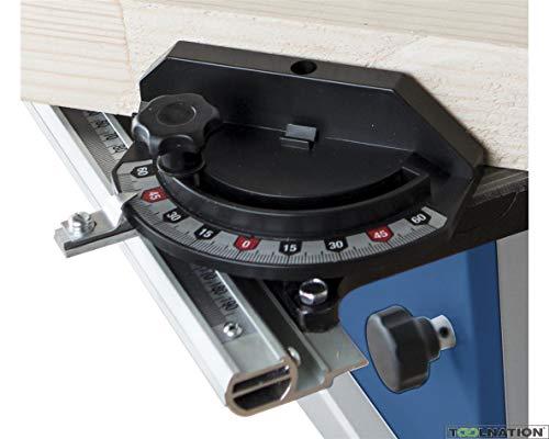 Scheppach 7901501001 Zubehör/Querschneidlehre, passend für die BASA1 Bandsäge, Verstellbereich von-60 bis + 60 Grad