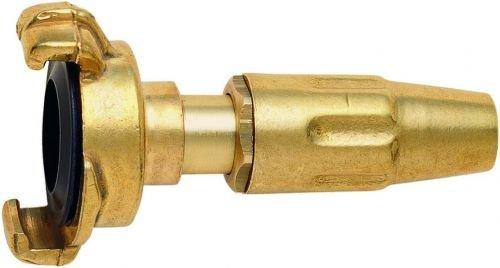 GEKA 8081K Spritzdüse 1/2 Zoll mit Kupplung 13mm aus Messing, Gold, 18 x 8 x 13 cm