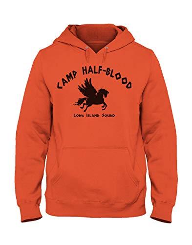 Green Turtle T-Shirts Sudadera con Capucha para Hombre - Camp Half Blood Perry Jackson - Fans Películas de FantasíaSmall Naranja