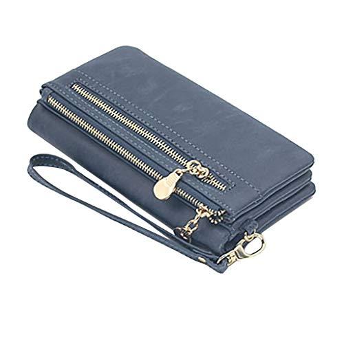 HDUFGJ Damen Geldbörse Portemonnaie Große Kapazität mit vielen Fächern Brieftasche Querformat,