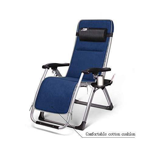 YLCJ Uitneembare gevoerde katoenen banken opvouwbare slaapbank Siesta ligstoelen leunend kantoor tuin luie stoel verstelbare recreatieve stoel opvouwbare laptop opvouwbaar (kleur: A) A