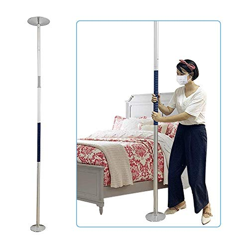 Transfer Pole Bed Railings for Seniors Bed Bars Assist Handle Bedside Grab Rail Bed Handle Bedside Assist Floor to Ceiling Grab Bar Pole Safety Rails Standing Aid Bed Transfer Handle Bar Handrail