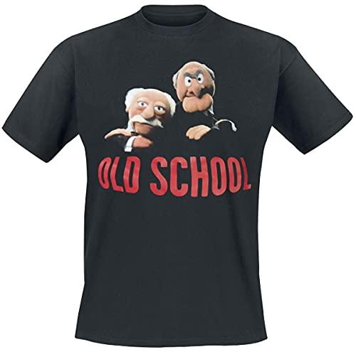 El Show de Los Muppets – T-Shirt Old School – Statler & Waldorf – T-Shirt Noir – XL