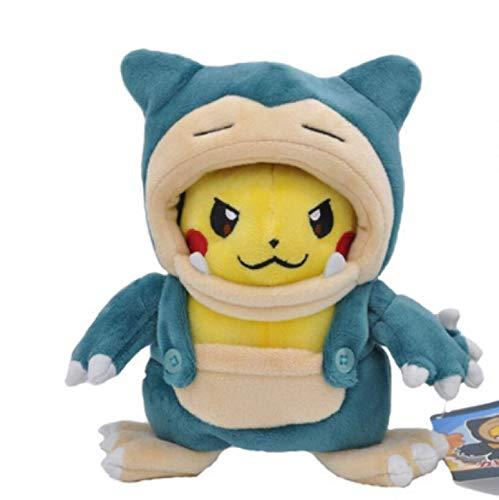 WYYHYPY Snorlax Llush Toy Anime Soft Stuffed Toys Muñeca Animal para niños Regalo de premios de Vacaciones 20 cm Peluche de Pokemon