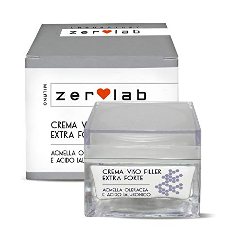 Zerolab Crema Viso Antirughe Acido Ialuronico Donna Idratante Giorno e Notte Made In Italy