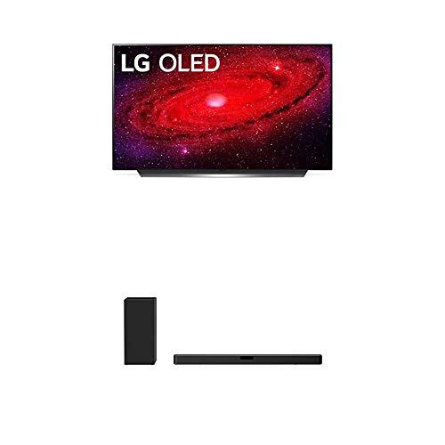 """LG OLED48CXPUB Alexa Built-in CX 48"""" 4K Smart OLED TV (2020) with LG SN5Y 2.1 ch 400W High Res Audio Sound Bar with DTS Virtual:X, Black"""