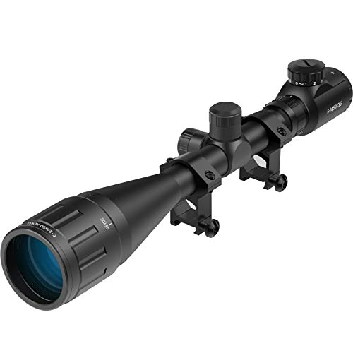 Twod Scope 6-24X50mm AOEG Optics Scope Red&Green Illuminated Rangefinder Reticle Scope