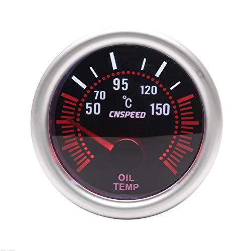 Yongenee 12V 2 '' 52mm Temperaturanzeige Auto-Öl 50-150c Universal-Objektiv mit Öltemperatursensor Auto-Lehre for Auto-LKW-Boot Rauch Instrument