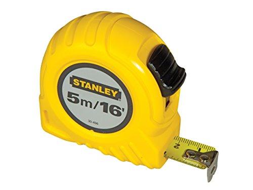 Preisvergleich Produktbild Stanley Bandmaß (5 m Länge,  19 mm Breite,  mit Polymer-Schutzschicht,  robustes Kunststoffgehäuse,  Gürtelclip) 0-30-496