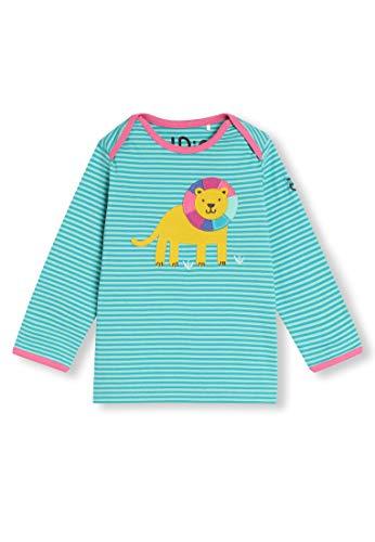 Algodón orgánico - Bebé Niña Niños pequeños - Camiseta de Manga Larga - Niñita Niñito (0-4 Años) (18M (12-18 Meses), Leon Turquesa)