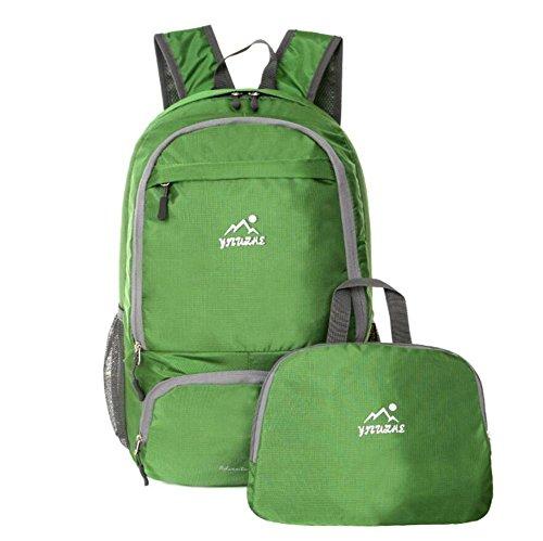 Epaules Alpinisme Forfait pliables Sac léger Sac de peau Couple Sac à dos étanche extérieur Voyage Portable , green
