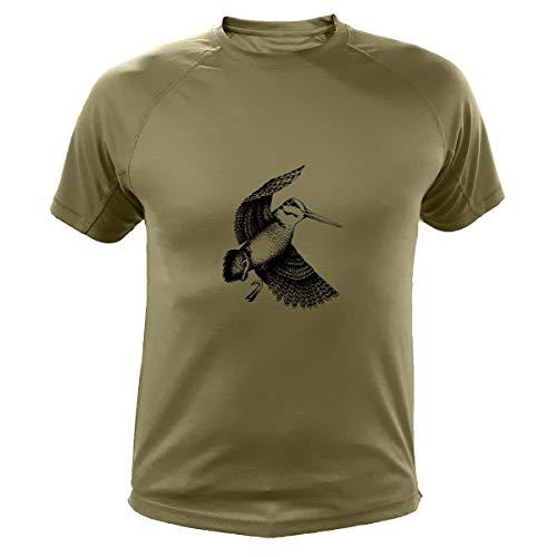 AtooDog Camiseta de Caza, Becada, Regalos para Cazadores (187, Verde, M)
