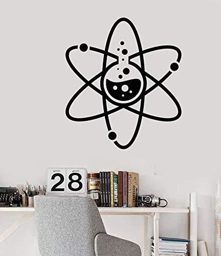 zhuziji Pegatinas de Pared Hroom Teal, Labora Química atómica Ciencia Labora Profesor Ative Stickervinyl PVC Sala de Estar a Prueba de Agua Empresa Oficina Escolar 42x47cm