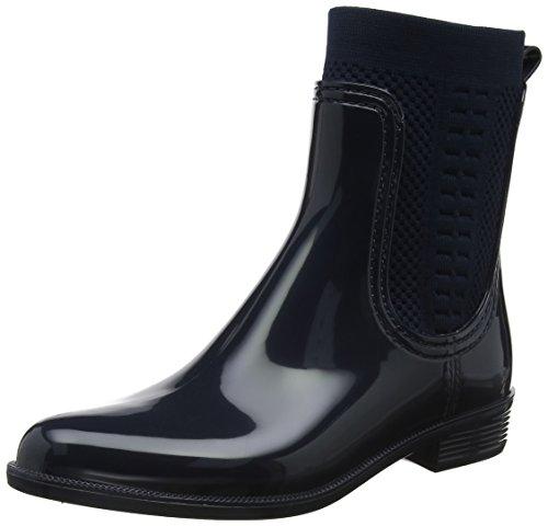 Tommy Hilfiger Damen Tommy Knit RAIN Boot Gummistiefel, Blau (Midnight 403), 41 EU