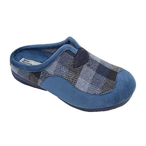 BIORELAX - Zapatillas COSDAM Biorelax Marino 13673 Lona Hombre Color: Marino Talla: 41