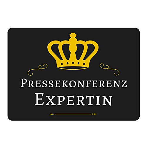 Mouse Mat Press Conference Expert Zwart