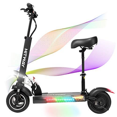 SOUTHERN WOLF Trottinette électrique, Trottinette électrique Adultes avec siège Amovible Pneu 10 Pouces 800W Scooter électrique Jusqu'à 45km/h | Scooter électrique Pliable avec écran (Black) (Black)
