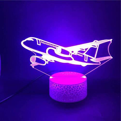 3D Illusie Lampjet Vliegtuig Vorm USB Touch Kinderen Volwassen Vakantie Gift Decoratie Decoratie