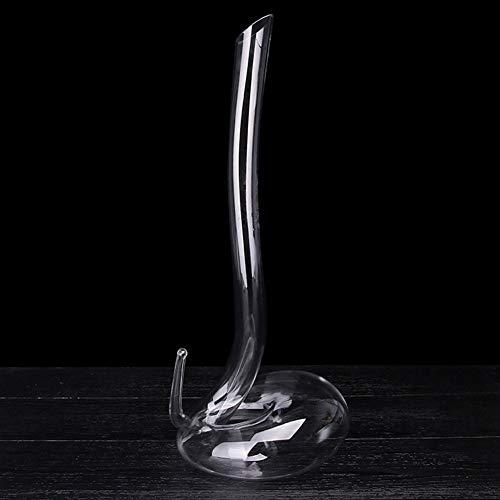 BOLLAER Decantador de vino de serpiente, hecho a mano, con boca soplada,...