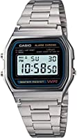 Casio Men's Grey Dial Stainless Steel Digital Watch - A158WA-1DF