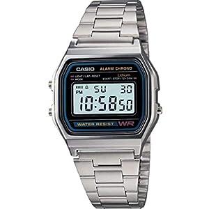 CASIO A158 – Reloj de Pulsera de Acero Inoxidable