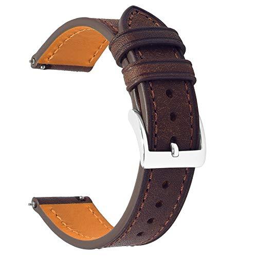 EACHE Correas de Reloj de Cuero Premium de liberación rápida, Bandas de Reloj de Cuero de Grano Superior de Italia para Mujeres y Hombres 18 mm 20 mm 22 mm