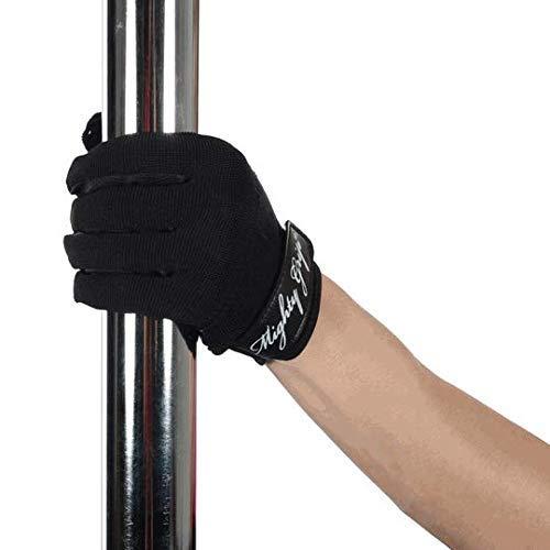Mighty Grip Pole Dance Handschuhe, nicht klebend, Größe L, Schwarz