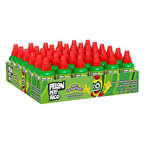 LORENA-PELON PELON PELO RICO Tamarind Jelly Candy, Bulk Halloween, 1.06 oz Bottles (36 Count)