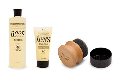 John Boos Creme Butcher Block Oil & Creme, Pack of 2, One Bottle of Mystery Oil, One Tube of Cream and One Applicator
