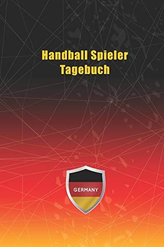 Handball Spieler Tagebuch: Notizbuch, Notizblock, Buch mit 120 linierten Seiten für To-Do Listen - Tagebuch - Journal - Schulheft - Collegeblock