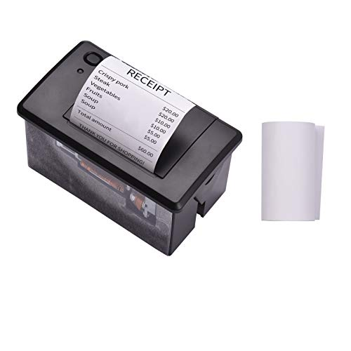 Aiebcy Embedded Thermal Receipt Printer 58MM Mini Printing Module Low Noise with USB/RS232/TTL Serial Port Support ESC/POS Commands for Weighing Apparatus Cash Register Self-Service Terminal