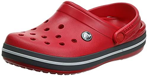 Crocs Crocband Clog K, Zuecos Unisex Niños, 30/31 EU, Rojo (Pepper/Graphite)