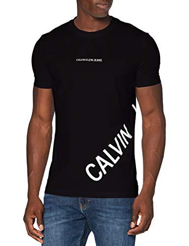 Calvin Klein Jeans Herren Stretch Logo Fashion Ss Tee Hemd, Ck Black, XXL