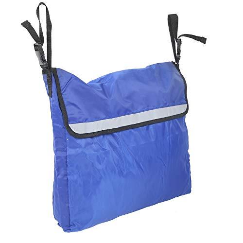 Tomanbery Bolsa de Almacenamiento para Silla de Ruedas Mochila para Silla de Ruedas Conveniente para Actividades al Aire Libre para Salir(Blue)