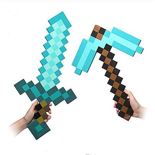 D-Tree - Spada diamantata in schiuma per bambini e ragazze, set di 2 pezzi, colore: Blu