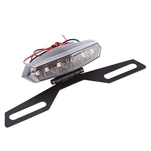 Luces de freno del motor Detener el freno de marcha Luz trasera trasera para la mayoría de las motocicletas, motos de tierra