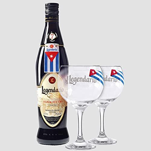 Smartbox - Caja Regalo - Ron Legendario a Domicilio: 1 Botella de Elixir de Cuba y 2 Copas de Cristal - Ideas Regalos Originales