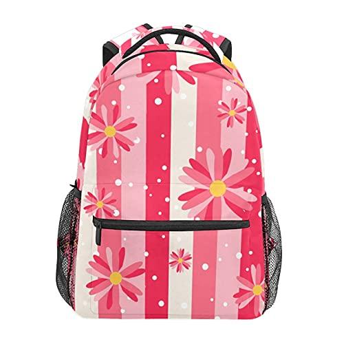 Zainetto a forma di margherita rosa su banda zaino scuola college viaggio escursionismo moda laptop zaino per donne uomini adolescenti casual borse di tela