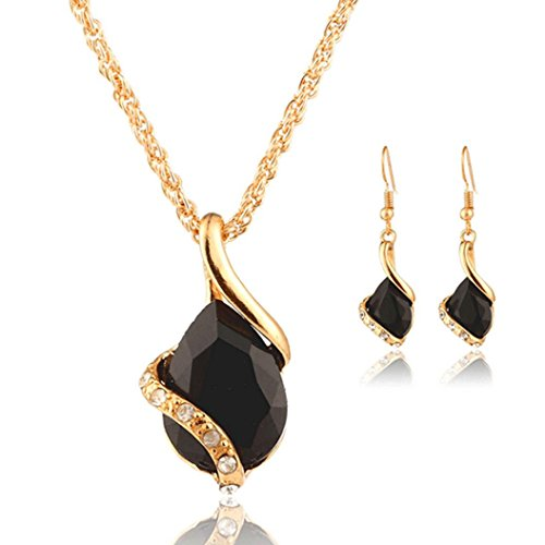 iLH Clearance Deals Necklace+Earrings Jewelry Set Womens Bohemia Chain Necklace Earrings Jewelry by ZYooh (Black)