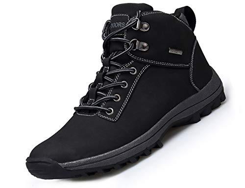 SINOES Herren CX Klassische wasserdichte Stiefeletten Schneeschuhe Worker Boots Anglerstiefel Schwarz 44 EU