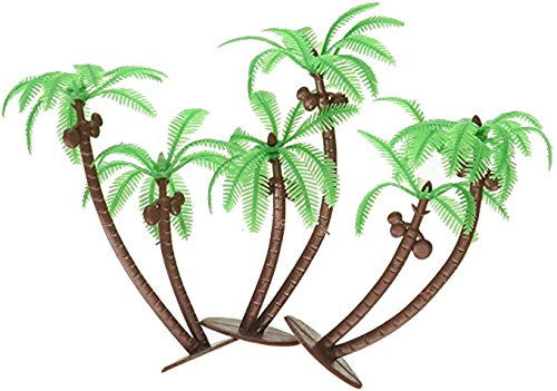 Palm Trees with Coconuts Cake/Cupcake Toppers - 12 pcs by A1 bakery supplies