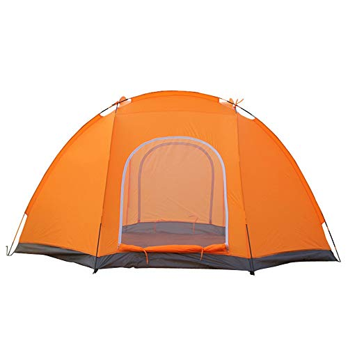 Reeamy-Home Travel Tent Waterproof and Cold-proof Outdoor Camping Tent for 6-8 People (Color : Orange, Size : 5-8 people)