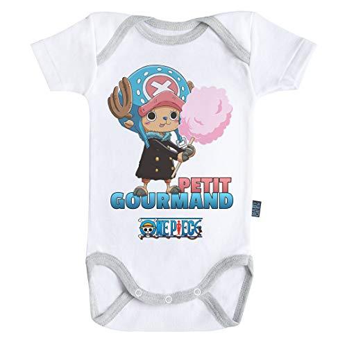 Baby Geek Petit Gourmand - Chopper - One Piece ™ - Licence Officielle - Body Bébé Manches Courtes (12-18 Mois)