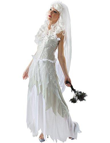 ORION COSTUMES Costume de déguisement de robe de mariée fantôme pour femmes