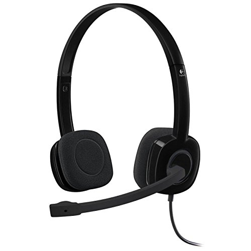 Logitech 3.5 mm Analog Stereo Headset H151 with Boom Microphone - Black