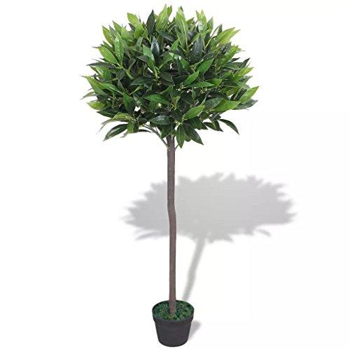 vidaXL Árbol de Laurel Artificial con Macetero 125 cm Verde Maceta de Plástico