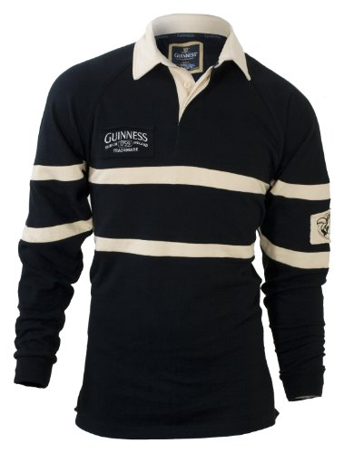 GUINNESS TWO PATCH JERSEY, (BLACK) LONG-SLEEVE