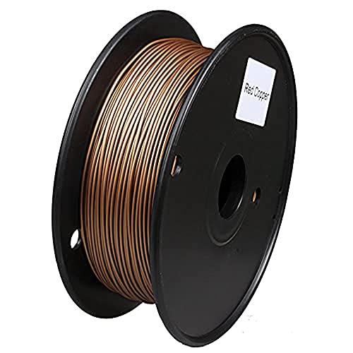 3D Printer Filament, 3D Printer Consumables,Pla Metal-Based Filament, 1.75Mm, 0.5Kg Spool, 40% Metal Content-,Red Copper