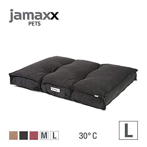JAMAXX Hundekissen,Dicke weiche Komfort-Füllung, Bezug waschbar, Hunde-Matratze Bodenkissen Bezug Farben im modernen Vintage-Canvas Design, PDB1086 (L) 100x70 anthrazit