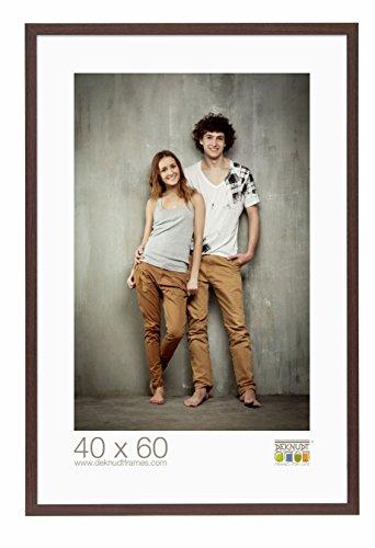 Deknudt Frames S44CH4-40.0X60.0 Bilderrahmen, Holz/MDF, Schlichter Stil, schmal, 63,5 x 43,5 x 1,47 cm, Dunkelbraun